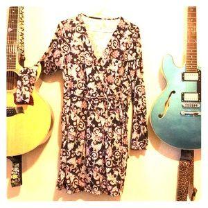 Groovy 70's Style Mini Wrap Dress